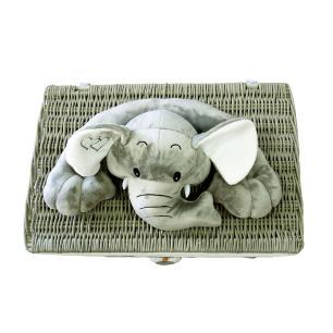 Baú em Rattan de Elefante - 60x60x40cm