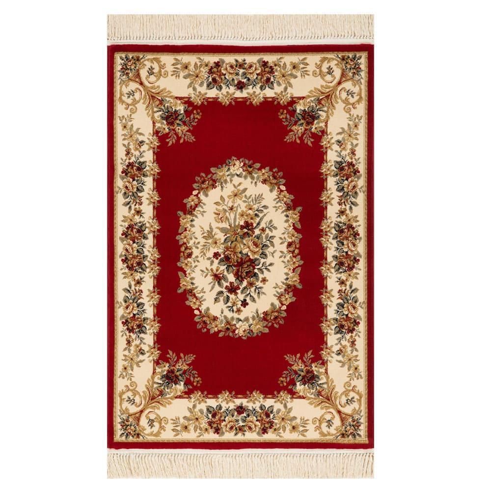 Tapete Persa Vermelho e Bege - 160x235cm