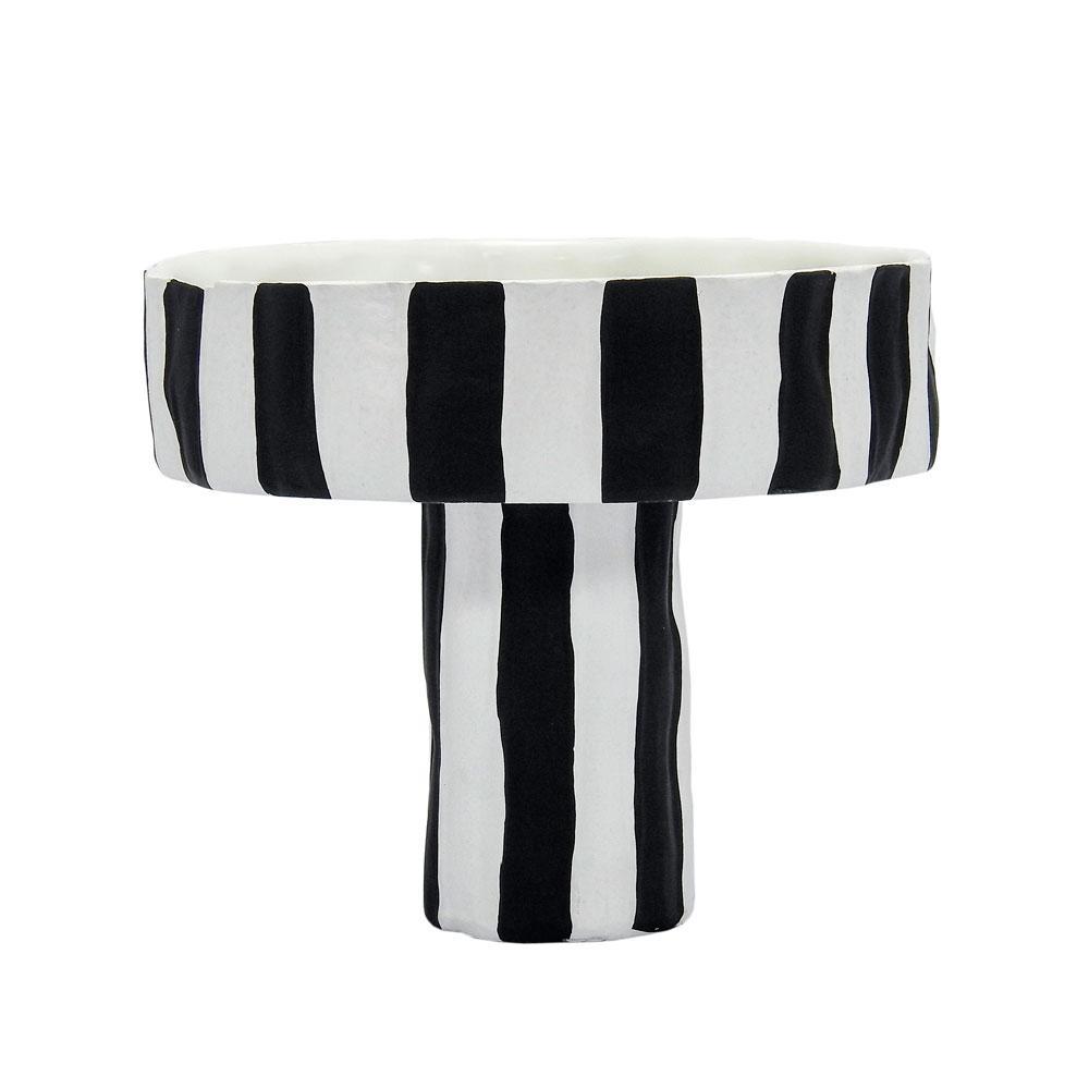 Bowl Decorativo Preto e Branco - 18x20cm