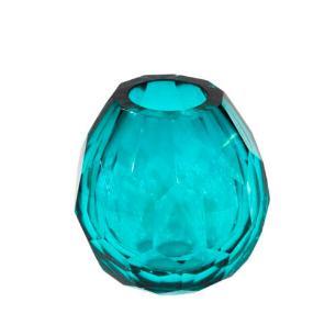 Vaso Decorativo em Vidro Azul - 15x14cm