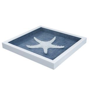 Quadro Decorativo em Resina com Estrela Branca - 45x45cm