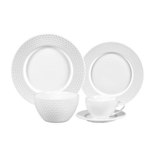 Aparelho de Jantar Peterhof em Porcelana Branca - 30 Peças