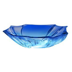 Centro de Mesa Neptune Cor Azul em Cristal Ecológico - 27,5x28x8,5cm