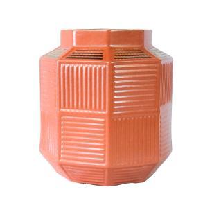 Vaso Decorativo em Porcelana na Cor Salmão - 29x25cm