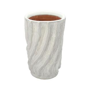 Vaso Decorativo em Cerâmica Branco - 34x21cm