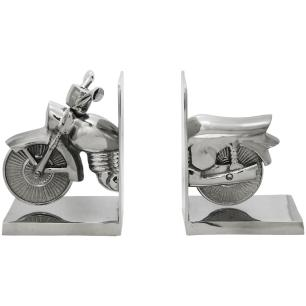 Miniatura de Moto Aperta Livros em Alumínio - 19x12x30cm