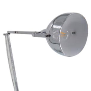 Abajur em Metal Prateado com Cúpula - 40x25cm