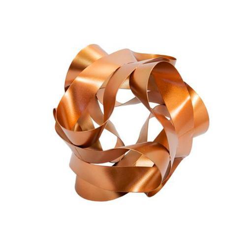 Escultura Decorativa em Metal cor Cobre - 18x18x18cm