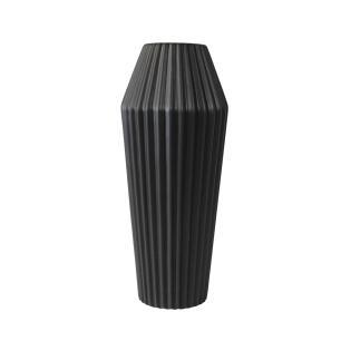 Vaso Decorativo em Cerâmica na Cor Preta - 33cm