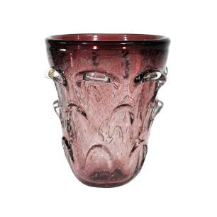 Vaso Decorativo em Murano Violeta - 16x14cm