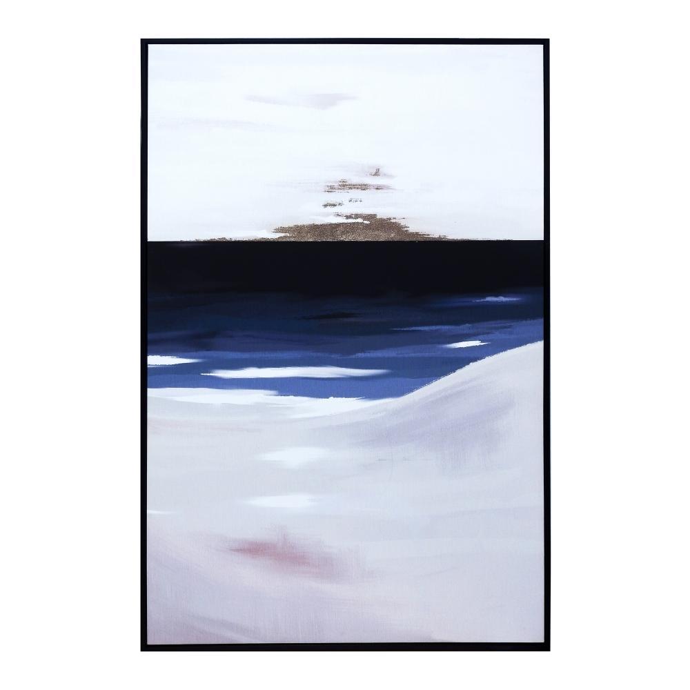 Quadro Decorativo com Pintura Abstrato - 83x123cm