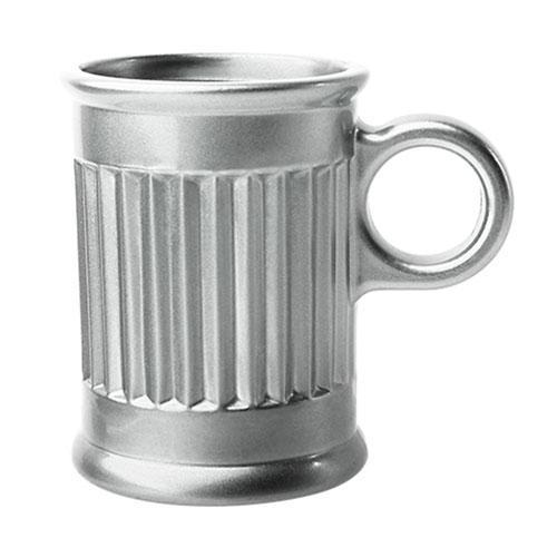 Jogo de 6 Xícaras para Café Coffee Time em Cristal cor Prata - 85ml