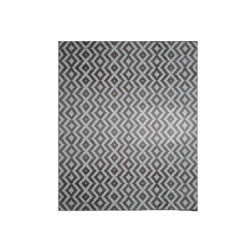 Tapete Belga Ambiance Marrom com Branco - 150x200cm
