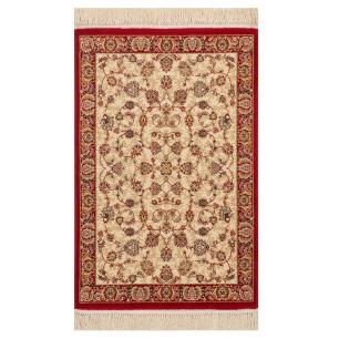 Tapete Persa Vermelho e Bege Floral - 160x235cm