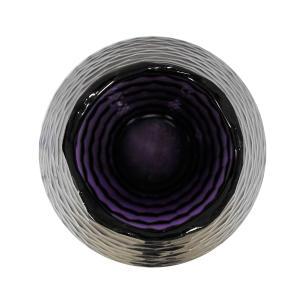 Vaso Decorativo em Vidro na Cor Violeta - 43x18,5cm