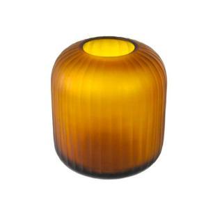 Vaso Decorativo em Vidro Âmbar - 22x20x20cm