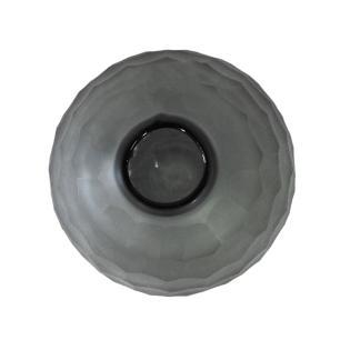 Vaso Decorativo em Vidro na cor Cinza - 16x12x12cm