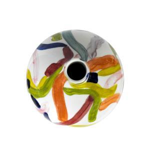 Vaso Decorativo em Cerâmica Colorida - 40x40cm
