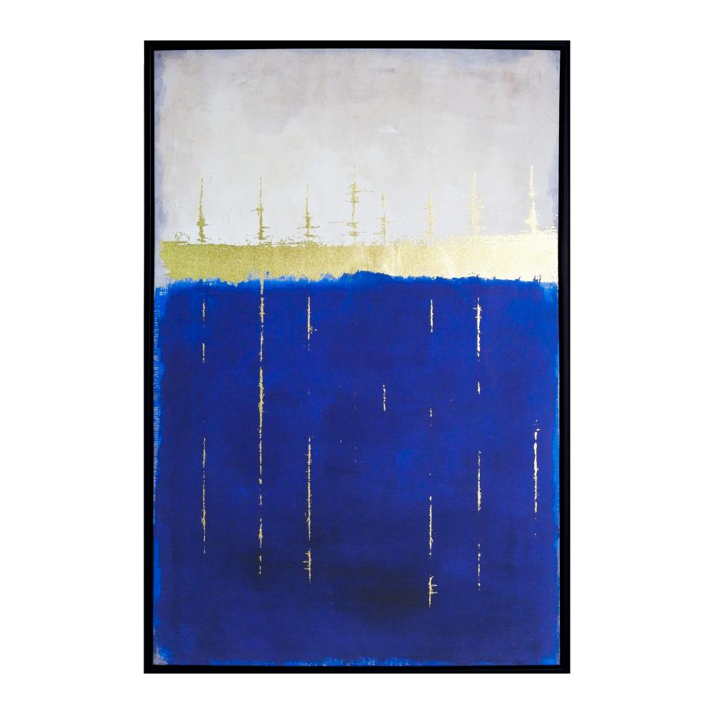 Quadro Decorativo com Pintura Abstrato - 63x93cm