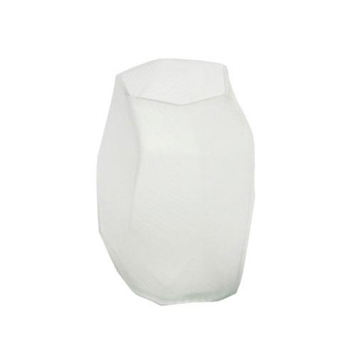 Vaso Decorativo em Vidro Branco - 22x15x15cm