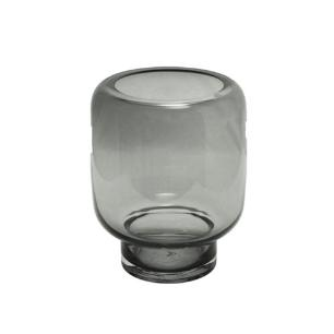 Vaso Decorativo em Vidro Preto Fosco - 25x19x19cm