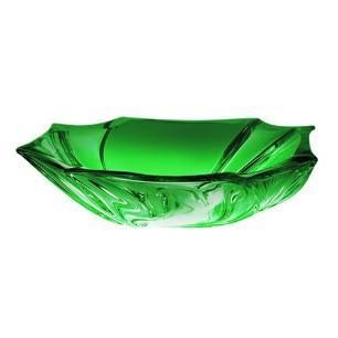 Centro de Mesa Neptune Cor Verde em Cristal Ecológico - 27,5x28x8,5cm