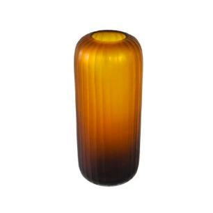 Vaso Decorativo em Vidro Âmbar - 36x15x15cm