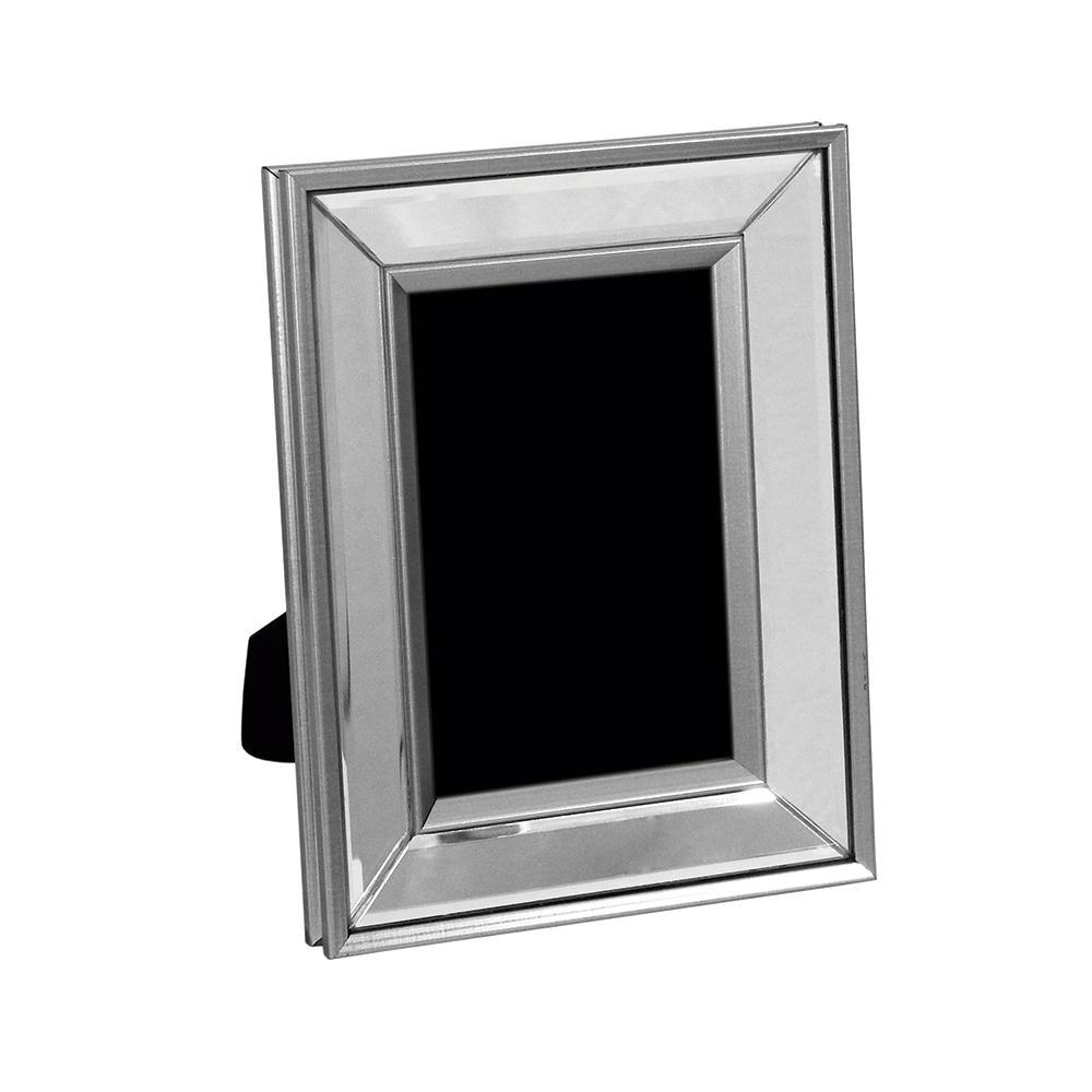 Porta Retrato Prata com Vidro Espelhado - 17x22cm