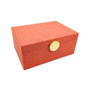 Caixa Decorativa na Cor Salmão - 12,5x28x20,5cm