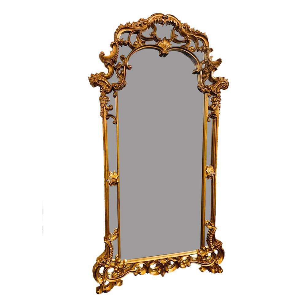 Espelho Clássico Folheado a Ouro - 214x114x6,5cm