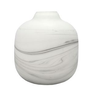 Vaso Decorativo em Vidro Branco - 18x22cm