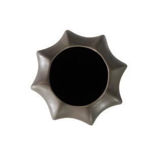 Vaso Decorativo em Cerâmica Cinza Escuro Grande - 40cm