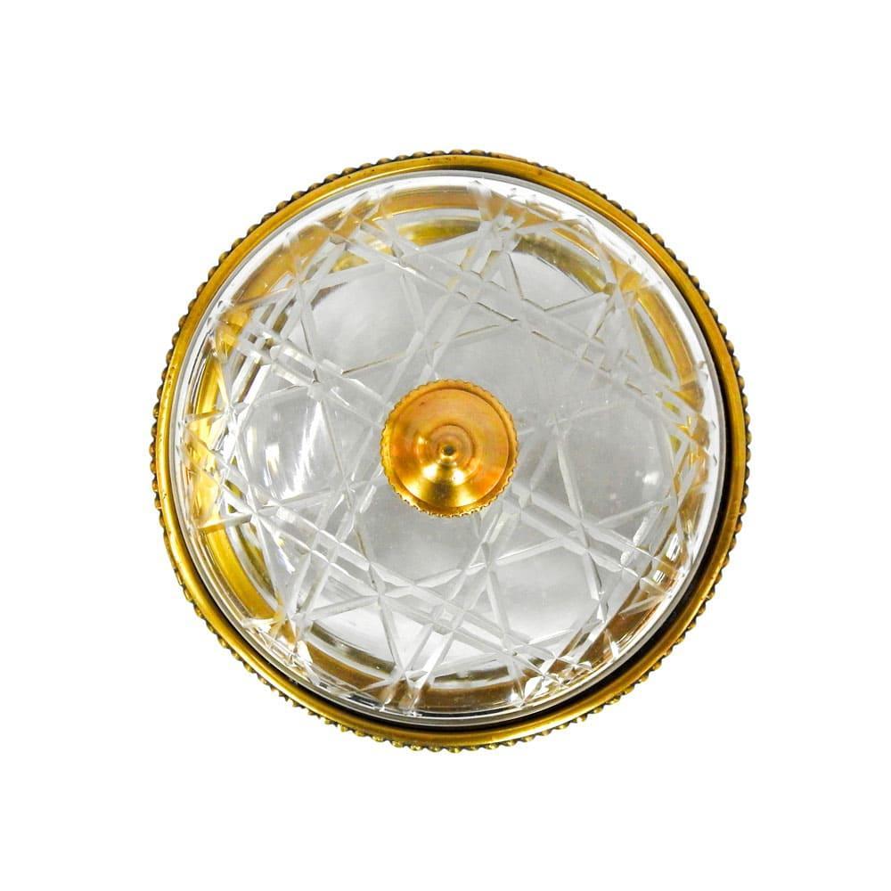 Caixa Decorativa em Metal e Vidro - 25x13cm