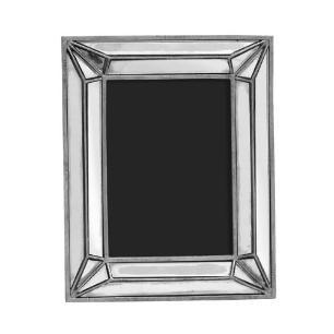 Porta Retrato Revestido em Resina Prata - 25,5x20cm