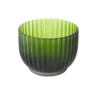 Vaso Decorativo em Vidro na Cor Verde - 12x16cm