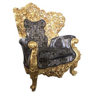Jogo de Sofá Clássico Imperial Folheado a Ouro
