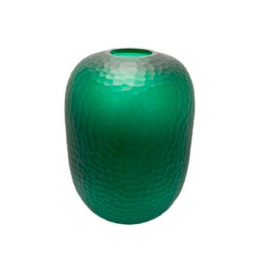 Vaso em Vidro Decorativo na Cor Verde - 48x34cm