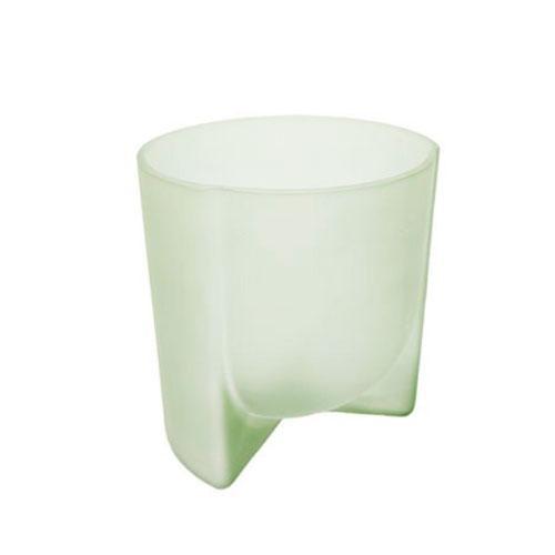 Vaso em Vidro Decorativo  na Cor Verde Claro - 19,5x17cm