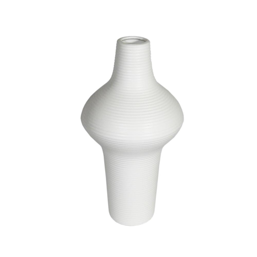 Vaso Decorativo em Cerâmica na Cor Branca - 38cm