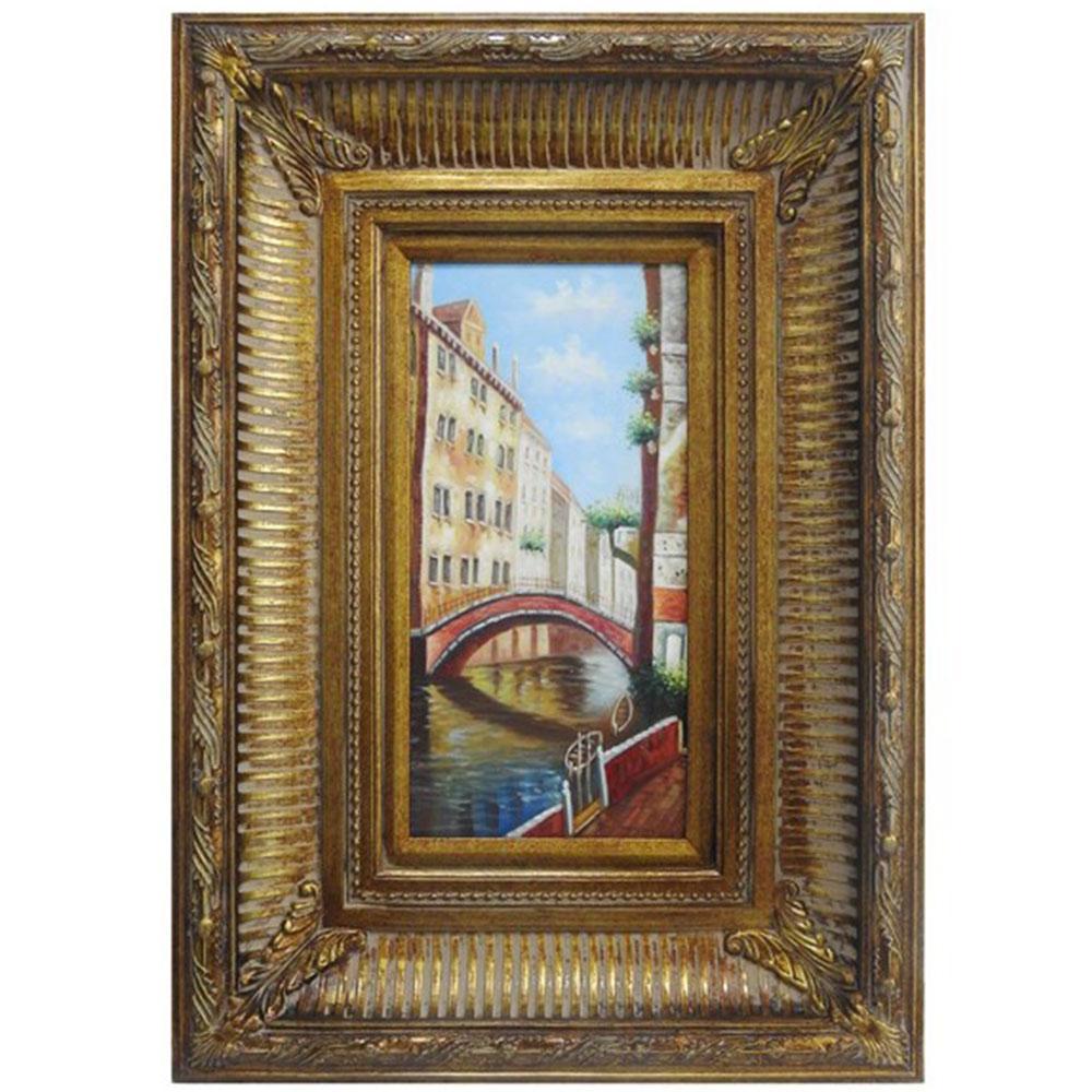 Quadro C/ Pintura a Oleo Veneza - 67x47cm