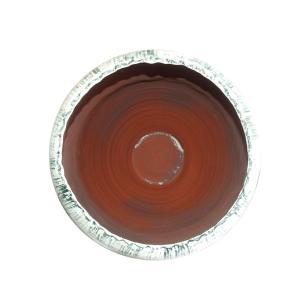 Vaso Decorativo em Cerâmica Branco com Verde - 60x39cm