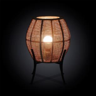 Luminária de Chão em Rattan - 25x44cm