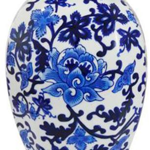 Potiche em Cerâmica Estilo Borrão 46 cm x 20 cm