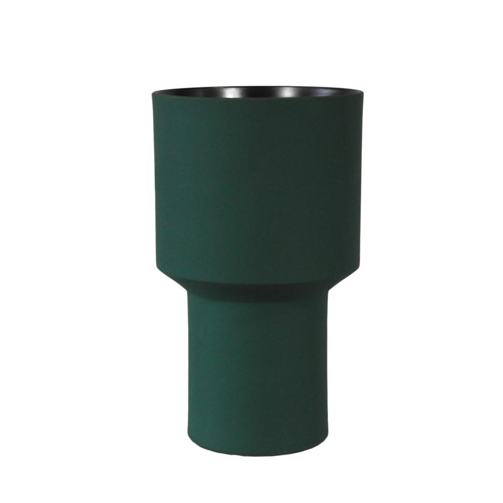 Vaso Decorativo Produzido em Cerâmica Verde - 27x16cm