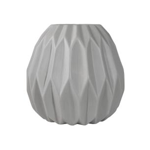 Vaso Decorativo em Cerâmica Cinza Claro - 23cm