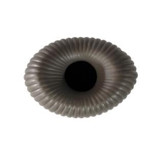 Vaso Decorativo em Cerâmica na Cor Cinza Escuro - 42x20x14cm