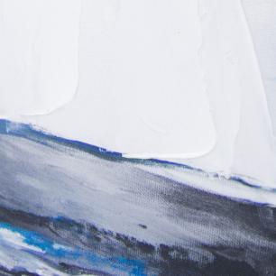 Quadro em Canvas Veleiro - 105x105cm