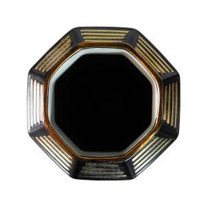 Vaso Decorativo em Porcelana na Cor Preta - 50x23cm