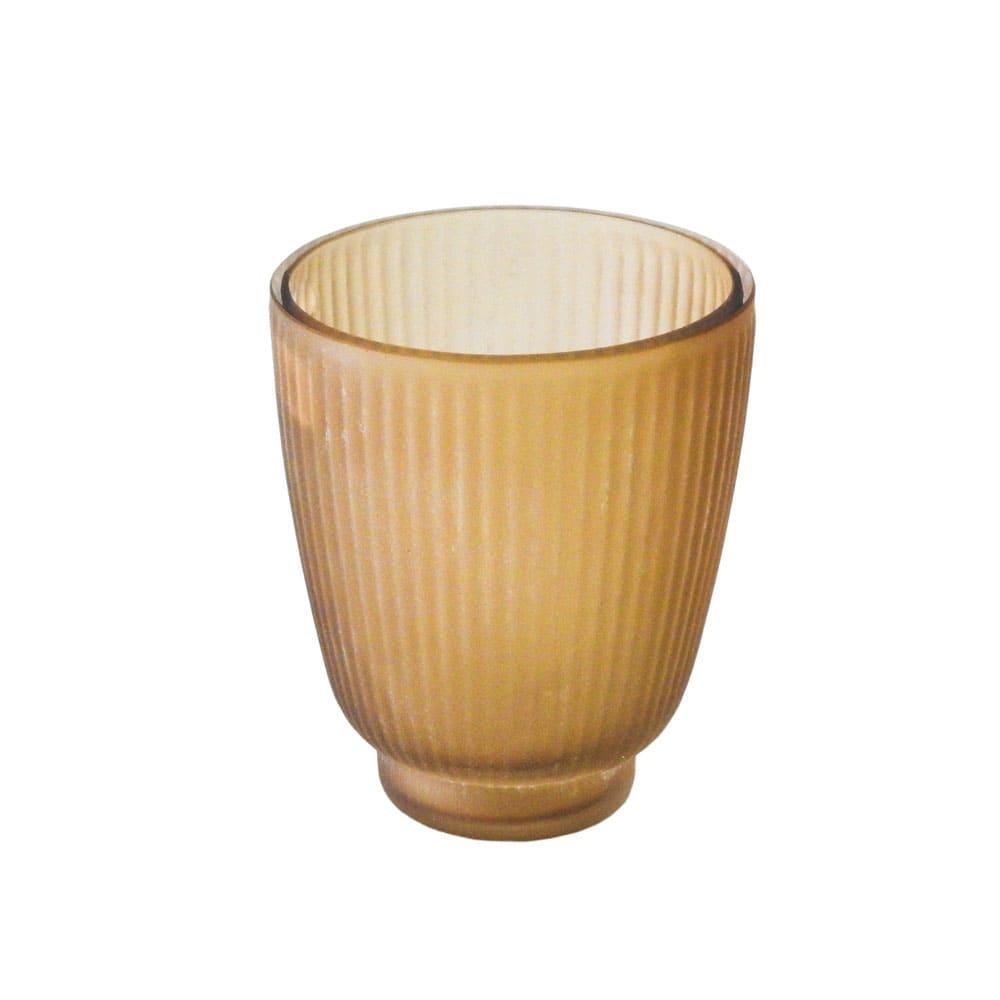 Vaso Decorativo em Vidro na Cor Marrom - 10x9cm