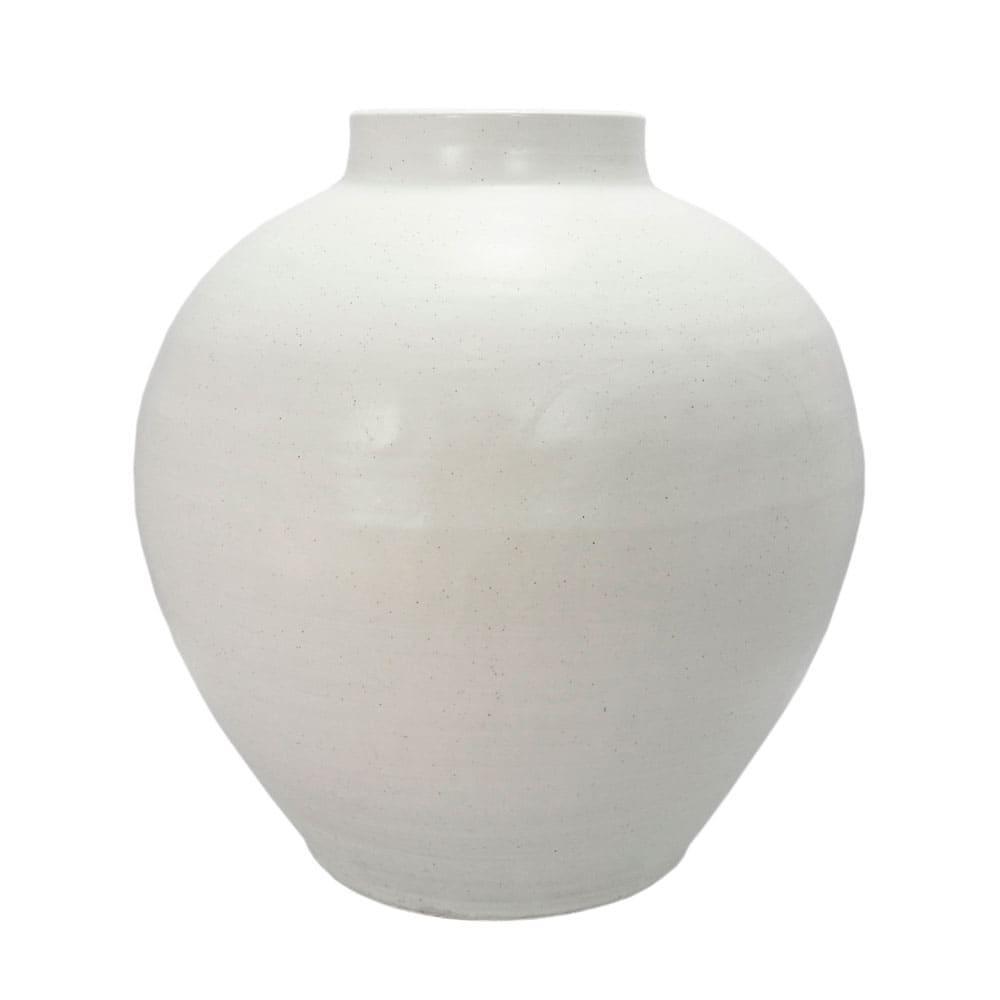 Vaso Decorativo em Cerâmica Branco - 47x37cm